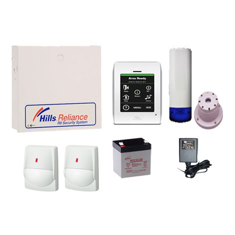 Hills Reliance 8 Nx8 Alarm Kit Inc Wired Detectors