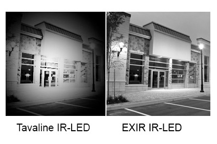 EXIR IR LED Vs Conventional infrared